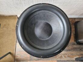 Ground Zero subwoofer 4000w 15inch/radio/amp/bass