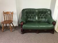Leather furniture 2 and 3 seater a two arm chairs for sale