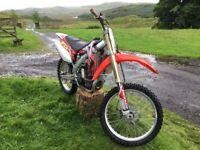 Honda 450 racing motor cross trials bike. Just serviced Great condition