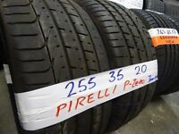 MATCHING PAIR 255 35 20 PIRELLIS P-ZEROS 7MM TREAD £100 PAIR SUPP & FITD (loads more av} TXT S