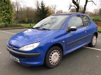 PEUGEOT 206 LX SPORT 2002 STARTS AND DRIVES 100% PAN ROOF**RELIABLE+ECONOMICAL*BARGAIN*