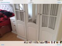 Large white wardrobe set, in ex, cond, could deliver