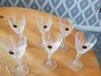 Set of 6 Capri crystal glasses