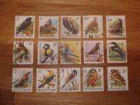 Belgium Bird Stamps