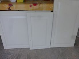 Assorted Ikea kitchen doors and one base unit
