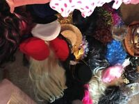 Selection of Wigs and Hats