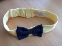 6-9 months Blue and Yellow Baby Headband