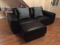 Sofa - Ikea Dagarn Black with footstool