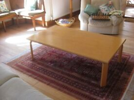 SOLID BEECH SET: Coffee table, Sideboard, Bookcase and Hi-Fi Cabinet