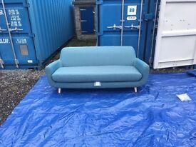 MADE-COM RETRO JONAH 3 SEATER SOFA BABY BLUE RRP £699