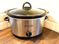 Crock Pot 37401BC Slow Cooker Brushed Chrome 3.5L with Timer