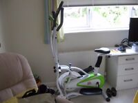 CROSS TRAINER EXERSIZER ELLIPTIOAL BIKE(top ofthe range )F.4.H SUPER AS NEW CONDITION