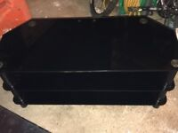 "Serano Black Glass TV Stand (suitable for TVs upto 42"" and 50kgs)"