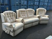 Sherborne Suite Rise Recline Electric Armchairs Excellent Condition Possible Delivery