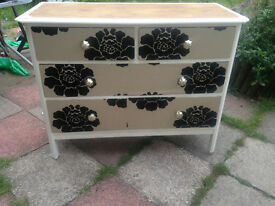 Unique,Boutique Large vintage chest of Drawers Upcycled