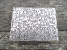 Antique Solid Silver Compact Case