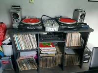 DJ UNIT DECK & RECORD STAND