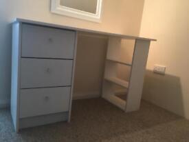 White Wooden Dressing Table/Desk