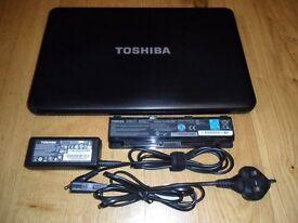 "TOSHIBA SATELLITE C850 15.6"" INCH 4GB INTEL CELERON 1.8GHz 320GB BLACK LAPTOP"