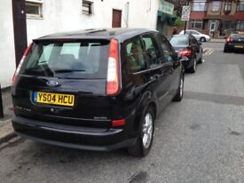Ford fours c max 04 plate 5 door with 7 month mot and tax