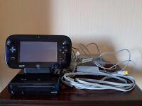 Nintendo Wii U Premium Black 32GB Console - Good Condition