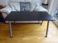 IKEA Desk (Black/Very Dark Brown) - Height Extendable