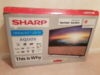 43 Inch Sharp AQUOS LC-43CFF5111K SMART Full HD LED TV With Freeview HD