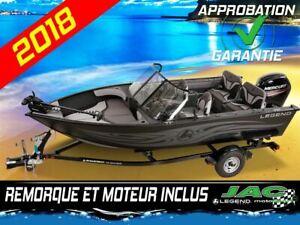 2018 Legend Boats Bateau F17 Mercury 50 ELPT Chaloupe pêche **Pr