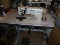 JUKI Twin Needles Split Bar Knockout Needle Feed Industrial Sewing Machine