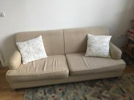 Made Orson beige sofa good condition
