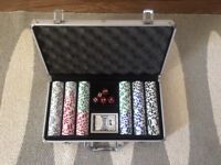 300 Chip Poker Set plus cards and carry case