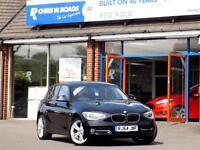 BMW 1 SERIES 2.0 116D SPORT NAV 5dr ** 18in Alloys + Sat Nav ** (black) 2014