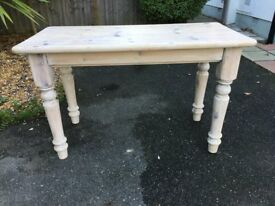 Solid pine table with limed finish