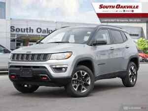 2018 Jeep Compass Trailhawk|DUAL SUNROOF|HTD LTHR|NAV|RR CAM