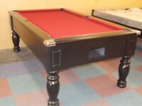 Ebony Turned Leg Pool Table / Snooker Table (7x4 Slate Bed) **Special Offer**