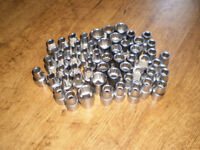 56 various Stanley 1/2 inch Sockets new. Tools
