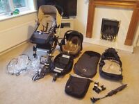 Bugaboo Cameleon Travel System plus car seat, isofix and extras