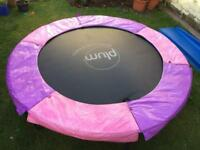 PLUM 6ft kids trampoline with safety net (blue on other side)