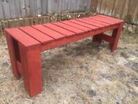 Reclaimed wooden bench