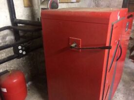 Wood pellet boiler & tank