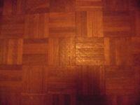 Beautiful Solid Hardwood Teak Reclaimed Parquet Flooring - Approx 30m2