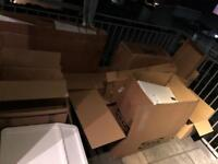 Cardboard boxes — free to collect