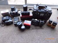 35mm Film Camera Equipment.