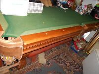 Victorian Style Pool Table,Claw & Ball Feet