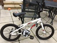 "Boys 18"" BMX bike with stunt pegs"