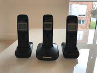 Panasonic set of 3 cordless home phones
