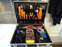 Black Polypropylene Tool Case with Tool Board & Key Locks