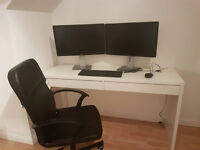 Ikea Desk and Chair (Delivery =Yes. Pre-built and Condition = New. Price £80ono)
