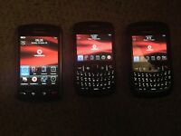 x3 Blackberry phones