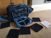 NEW family picnic camping hamper bag 4 person